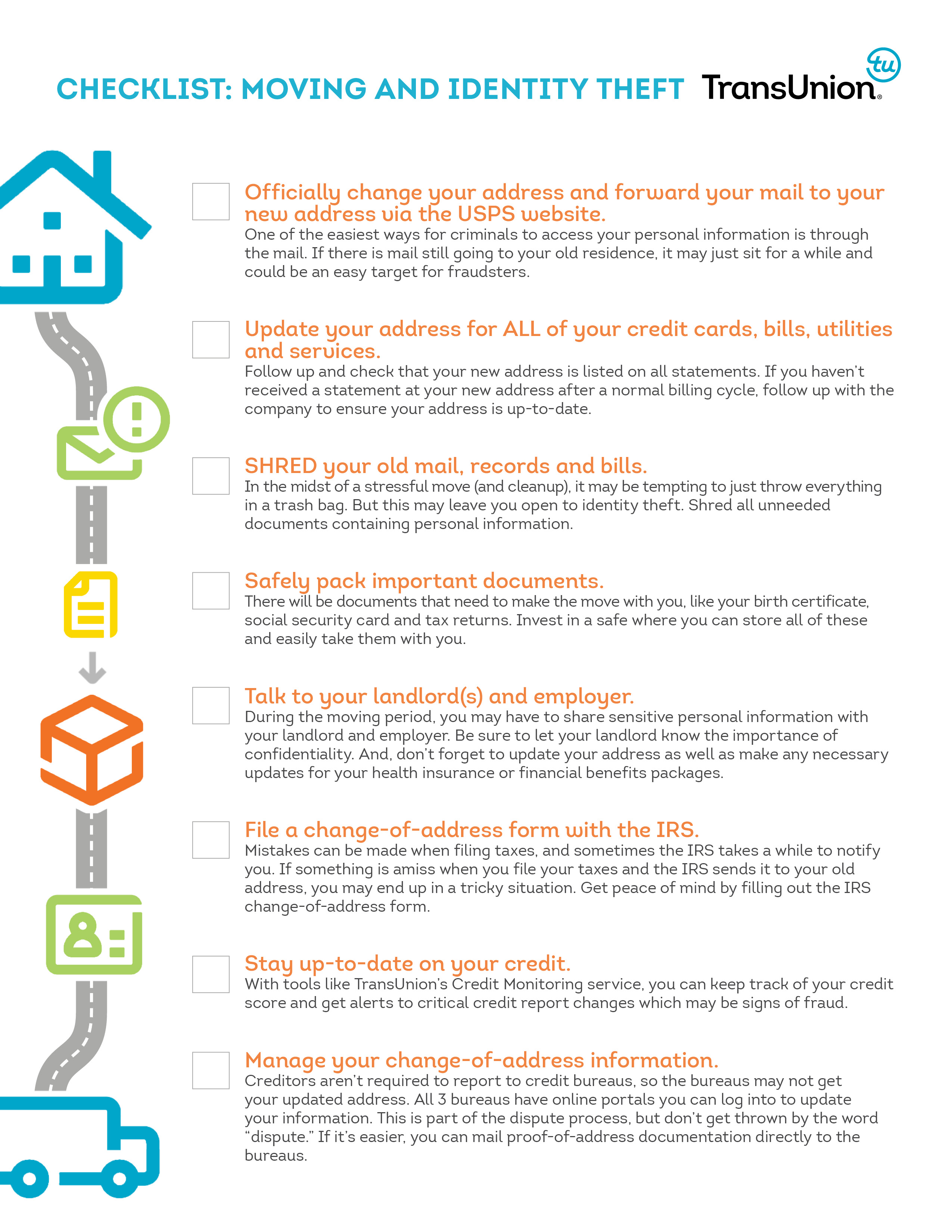 Protect Yourself From Id Theft With Transunion S Moving Checklist